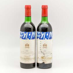 Chateau Mouton Rothschild 1976, 2 bottles