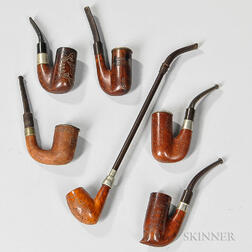 Six Boer War Carved Pipes