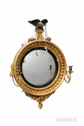 Small Gilt-gesso Girandole Mirror