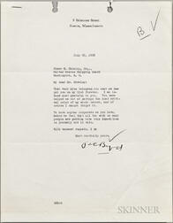 Byrd, Richard E. (1888-1957) Typed Letter Signed, 20 July 1933.