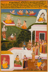 Painting of a Scene from the Sur Sagar   of Surdas