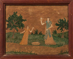 Hannah Badger, Early 19th Century      Two Waving Women