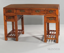 Hardwood Double-pedestal Desk