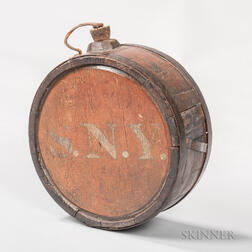 War of 1812-era Wooden Canteen