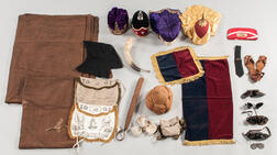 Group of Odd Fellows and Rebekah Lodge Costumes, Headgear, Member