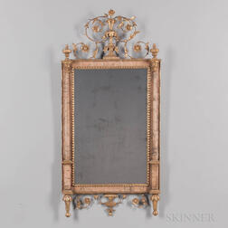 Northern Italian Neoclassical Marble-veneered and Giltwood Mirror