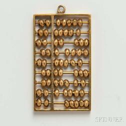 14kt Gold Abacus Charm