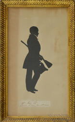 Framed Silhouette of a William Kerr Esquire