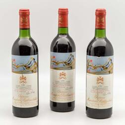 Chateau Mouton Rothschild 1981, 3 bottles