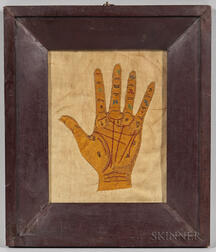 Needlework on Fabric Palm-reading Chart