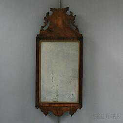 Queen Anne Inlaid Walnut Mirror