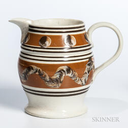 Cable and Cat's-eye Slip-decorated Pitcher