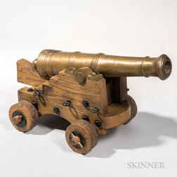 Reproduction Bronze Naval Cannon