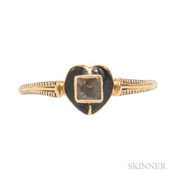 Gold, Enamel, and Rock Crystal Ring