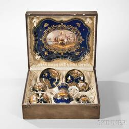 Meissen Porcelain Cobalt and Gilt Coffee Service