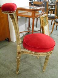 Pair of Continental Parcel-giltwood Chairs