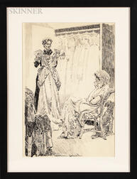 Orson Byron Lowell (American, 1871-1956)      Deciding What to Wear