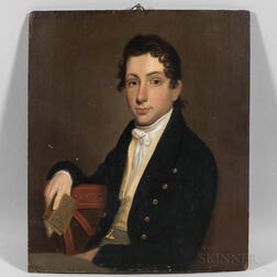 American School, Early 19th Century      Portrait of a Young Man