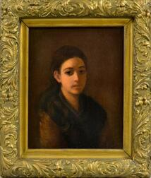 George Henry Hall (American, 1825-1913)      Portrait of a Young Woman