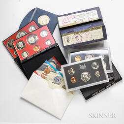 Fifty-six U.S. Mint Sets and Commemorative Coins.     Estimate $200-300