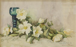 Louisa Mason (American, 1852-1908)      Beach Roses with Roemer