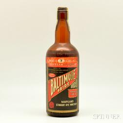 Baltimore Pride Straight Rye Whiskey   7 Years Old   1935