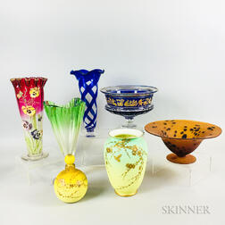 Seven Pieces of Art Glass