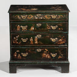 Georgian-style Japanned Chest-of-Drawers