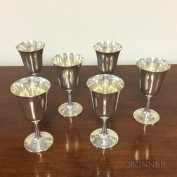 Ten Wallace Sterling Silver Goblets