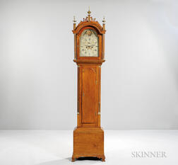 Carved Maple Tall Case Clock