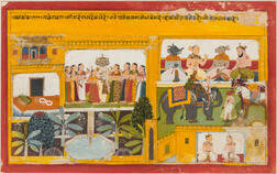 Painting of Sita at Ravana's Palace from the Ramayana