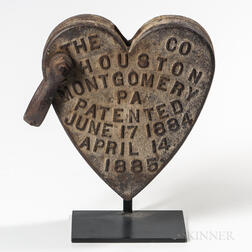 Cast Iron Heart-form Windmill Weight