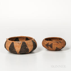 Two Pomo Basketry Bowls