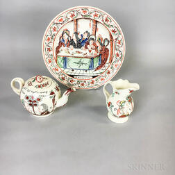 Three Polychrome Creamware Items for the Dutch Market