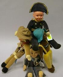Celluloid Boy and Three Cloth Norah Wellings Dolls