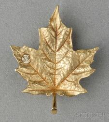 18kt Gold and Diamond Brooch, McTeigue