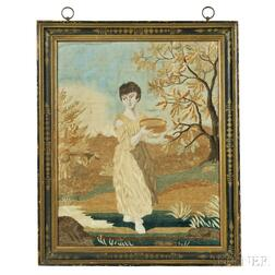 Needlework and Watercolor Picture