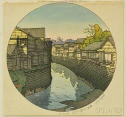 Kawase Hasui (1883-1957), Afternoon at Ninohashi Bridge in Azabu