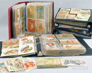 Large Group of Victorian Trade Cards, Scrap, Diecuts, and Holiday Cards