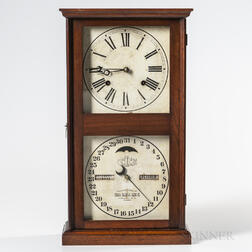 "Ithaca ""No. 10 Farmer's"" Calendar Clock"