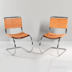 Two Mies van der Rohe MR10-style Chairs