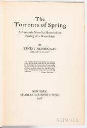 Hemingway, Ernest (1899-1961), Torrents of Spring.