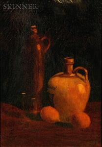 Attributed to Harry Herman Roseland (American, 1866-1950)    Still Life with Jugs and Lemons