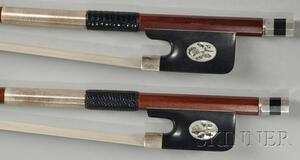 Two Silver Mounted Violoncello Bows.