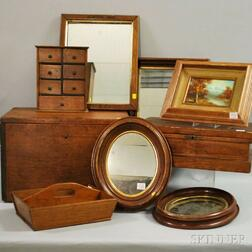 Nine Wood Boxes and Decorative Items