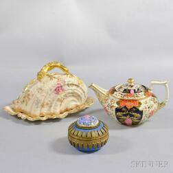 Three Porcelain Tableware Items