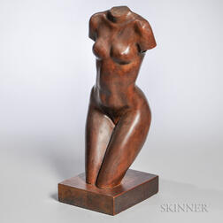 American School, 20th Century      Female Nude Sculpture