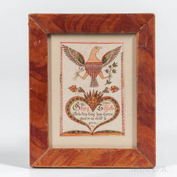 Small Eagle-decorated Fraktur