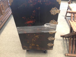 Japanned Cabinet on Stand
