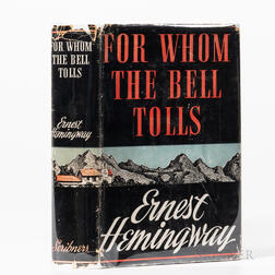 Hemingway, Ernest (1899-1961), For Whom the Bell Tolls.